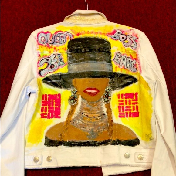 White custom Jean jacket